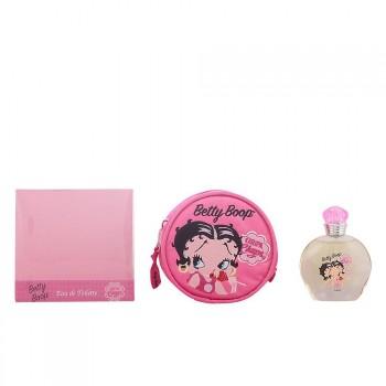 Betty Boop Coffret de 3 Produits : Eau de Toilette 50ml + Porte-Monnaie + Enveloppes